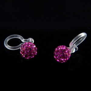 6mm Ear Cuff Ball (Purple)