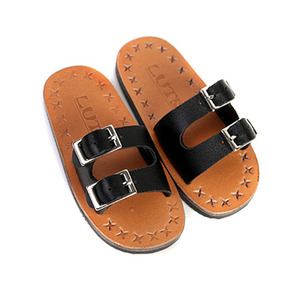 SBS-07 BUCKLE SLIPPER (Black)