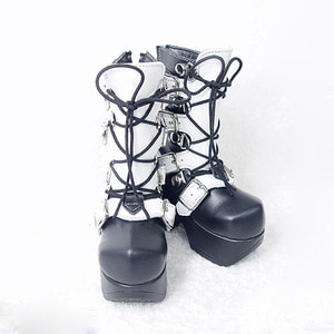 SBS-22 HARD METAL BOOTS For BOY (White)