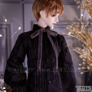 SDF65 Velvet Ribbon Blouse (Black)