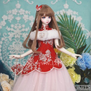 SDF China Dress set (Red)