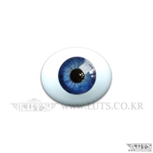 8MM Real Type Glass Eyes Cobalt