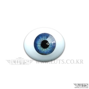 8MM Real Type Glass Eyes Blue