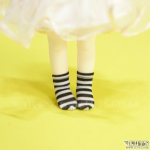 HDF Stripe Short Socks (Black/White)