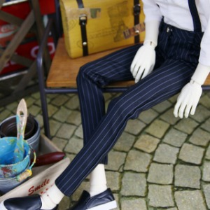 [SDB]Suspenders slacks(Stripe)