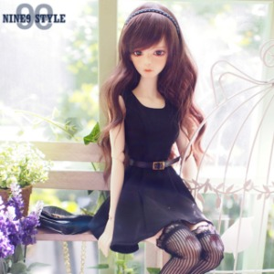 [SDG]Modern belt dress(Black)