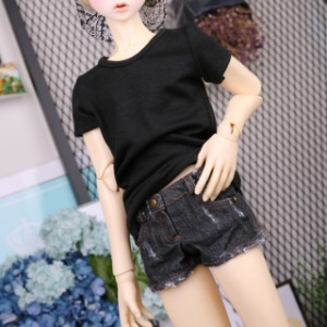 [SDB]BOY Worn hot pants(Black jean)