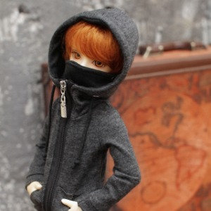 [MSD]Mask hood zip-up(Gray)