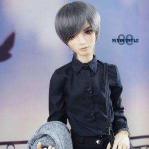 [SDB]Oxford shirt (All black)