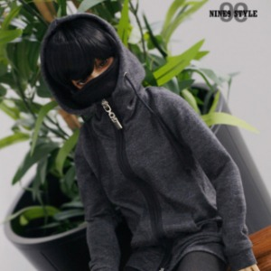 [SDB]Mask Hood Zip-up(Gray)