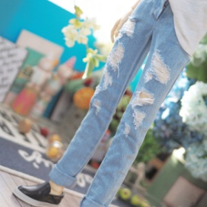 [SDB]Damage denim pants(Ice jeans)