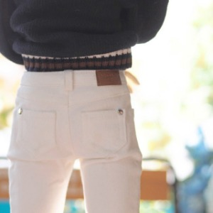 [SDB]BOY Color skinny pants(White)