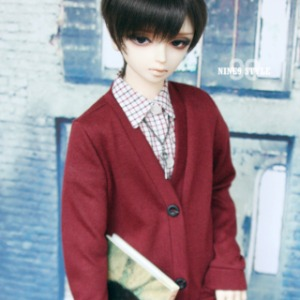 [SDB]BOY Colorful cardigan(Wine)