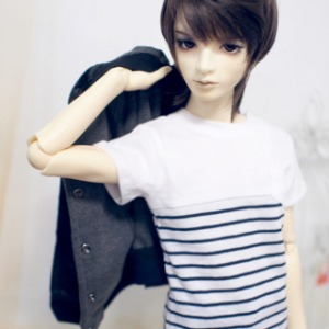 [SDB]Pocket striped T-shirts(Navy)