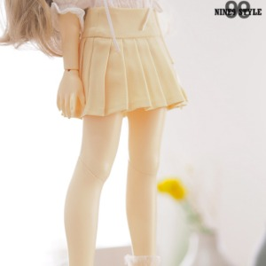 [MSD]Basic pleated skirt(Yellow)