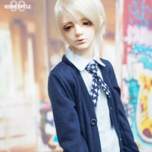 [SDB]BOY Colorful cardigan(Navy)