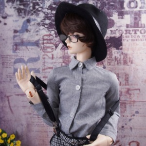 [SDB]Oxford shirt (Black)