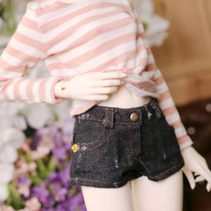 [SDG]Girl Worn hot pants(Black jean)