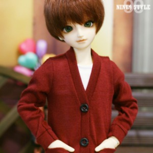 [MSD]BOY Colorful cardigans(Wine)