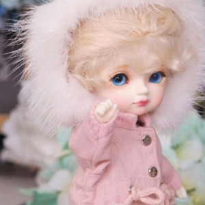 [LATI-Y]Rabbit fur safari jacket(Pink)