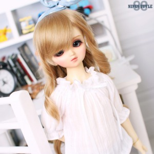 [MSD]Smocking shoulder open blouse(White)