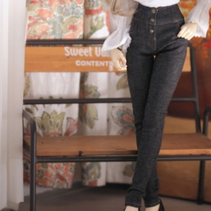 [SDG]Long High waist skinny pants(Black jean)