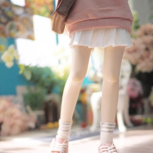 [MSD]Basic pleated skirt(white)
