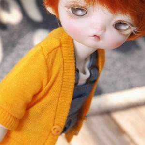 [LATI-Y]Simple long cardigan(Yellow)