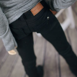 [SDB]BOY Color skinny pants(Black)
