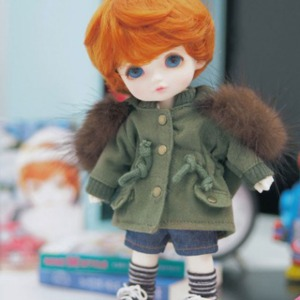 [LATI-Y]Rabbit fur safari jacket(Khaki)