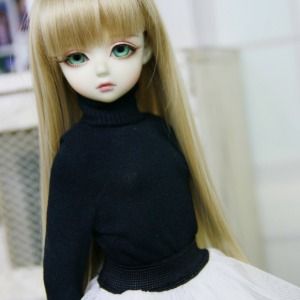 [MSD]GIRL Simple turtleneck(Black)