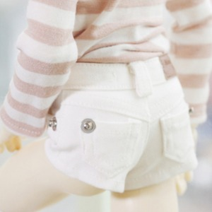 [MSDG]Color hot Pants (White)