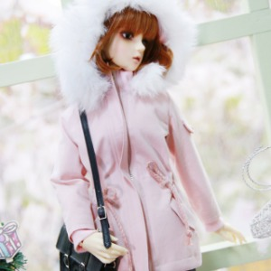 [SDG]GIRL Rabbit fur Safari jacket(Pink)