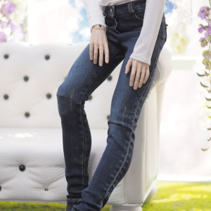 [ID75]BOY vintage washing skinny pants(Blue)