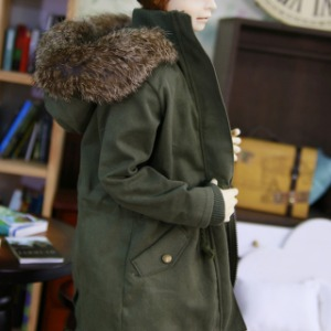 [SDB]Rabbit fur safari jacket(Khaki)