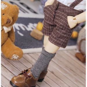 [YoSD]Suspender half pants(Check brown)