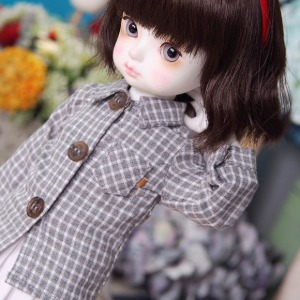 [YoSD] Melan square check shirt(Gray)