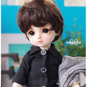 [YoSD] Oxford shirt(All black)