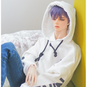 [ID75] ID75)Color Overfit Hoodie (White)