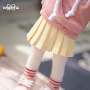 [YoSD]Basic pleated skirt(Yellow)