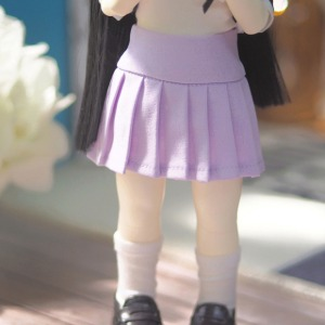 [YoSD]Basic pleated skirt(Purple)