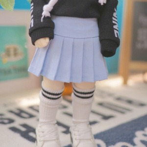 [YoSD]Basic pleated skirt(Sky blue)
