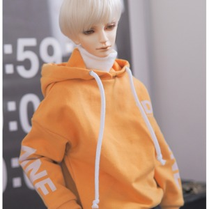 [SDB] B7)Color over hood T-shirt(Yellow)