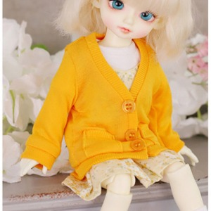 [USD]Simple long cardigan(Deep Yellow)
