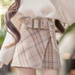 [MSD] [Pre-Order] Belt wrap skirt (Brown)