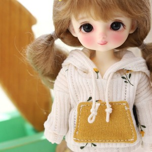 [Child16] 16CM S.Flower Hooded -Cream