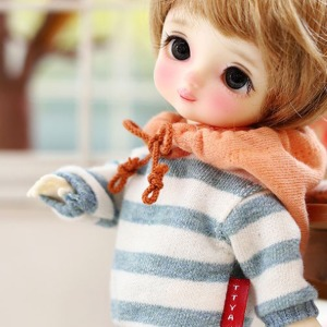 [Child16] 16CM Loose fit coloration Hooded-Blue