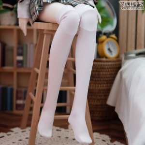 SDF Basic Over Knee-socks (White)
