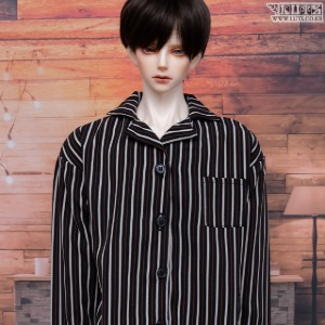 GSDF Open collar shirt (Black stripe)