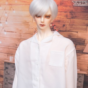 GSDF Open collar shirt (White)